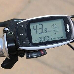 Image 3 - Wolf fang Elektrische Fahrrad 48V 500W Motor 10 Ah 27 geschwindigkeit Aluminium Klapp Elektrische Fahrrad versteckte lithium batterie elektrische fahrrad