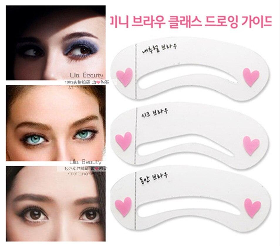 3pcs/Pack Korean Style Eyebrow Stencils 3 Model Styles Eye ...