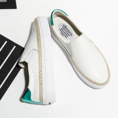 Femmes Amour 2018 Blanc Occasionnels La Épais Coréenne Version Chaussures Pédale 1 2 Paresseuses Sauvage Une Nouvelle Femelle Printemps De BrwxvaB
