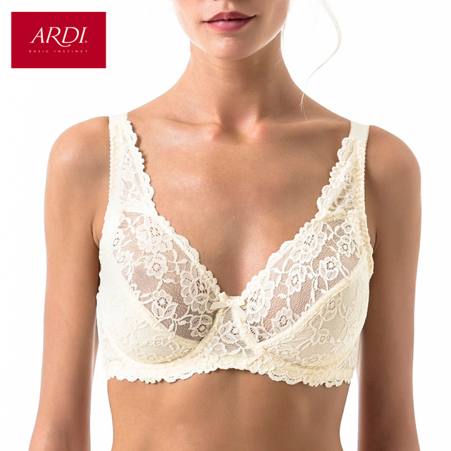 497a4afb467b5 Big Size Bras for Women Plus Size Lace Underwear Big Breast Underwire Bra  80 85 90 95 100 C D E F ARDI N1003-16
