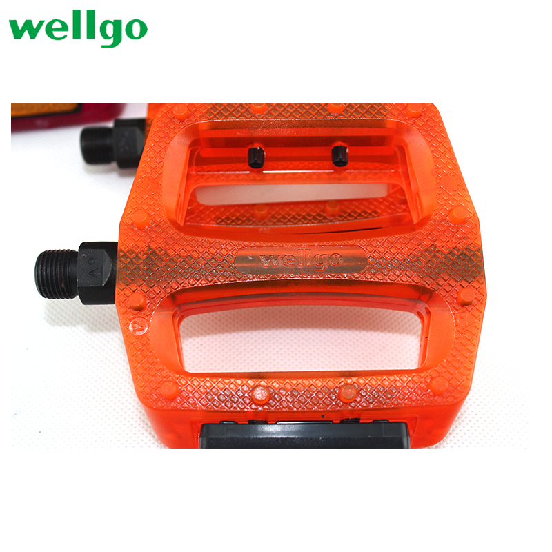 Wellgo B109 Plastic Pedals 9//16 Trans Brown Orange