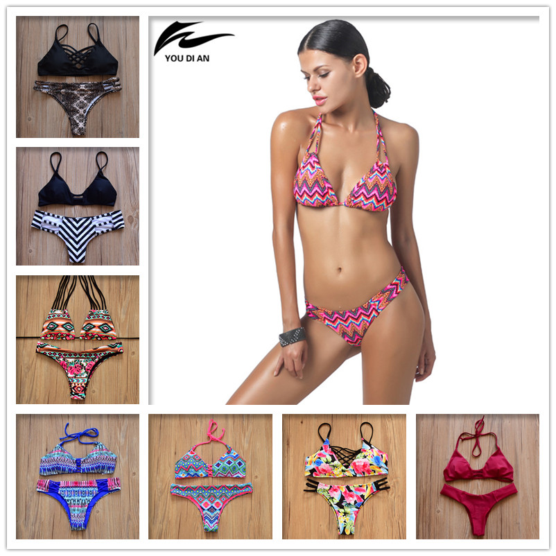 New Women Swimwear Bikini 2018 Summer Sexy Swimwear Women Swimsuit Bandage Push Up Bikini Beach Bathing suit zaful 2017 new women tie dye braided criss cross bikini set sexy spaghetti straps beach swimwear women swimsuit bathing suit