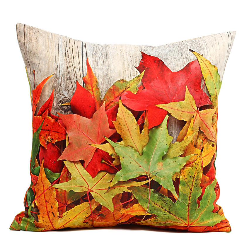 40 45 50cm Cushion Cover Plank Maple Leaf Throw Pillow