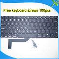 """5 UNIDS --- Estrenar Para MacBook Pro Retina 15.4 """"A1398 teclado EE. UU. teclado + 100 unids tornillos 2013-2015 Años"""