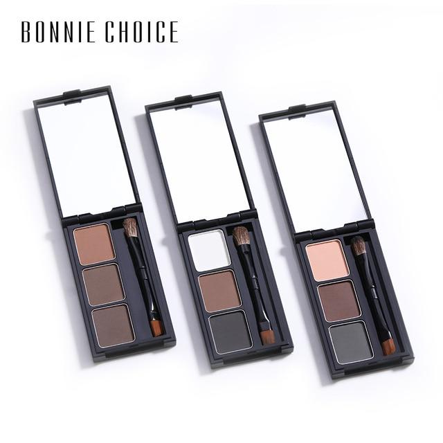 BONNIE CHOICE 2 Color Eyebrow Enhancer Pro Makeup Eyebrows powder Long-lasting Waterproof With Brush Mirror Cosmetic Kits 4