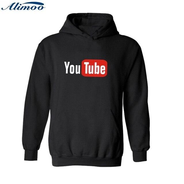 Alimoo Youtube Хулигана 4XL Капюшоном толстовки мужчины хип-хоп толстовки с You Tube xxxl толстовки для мужчин XXS Пары