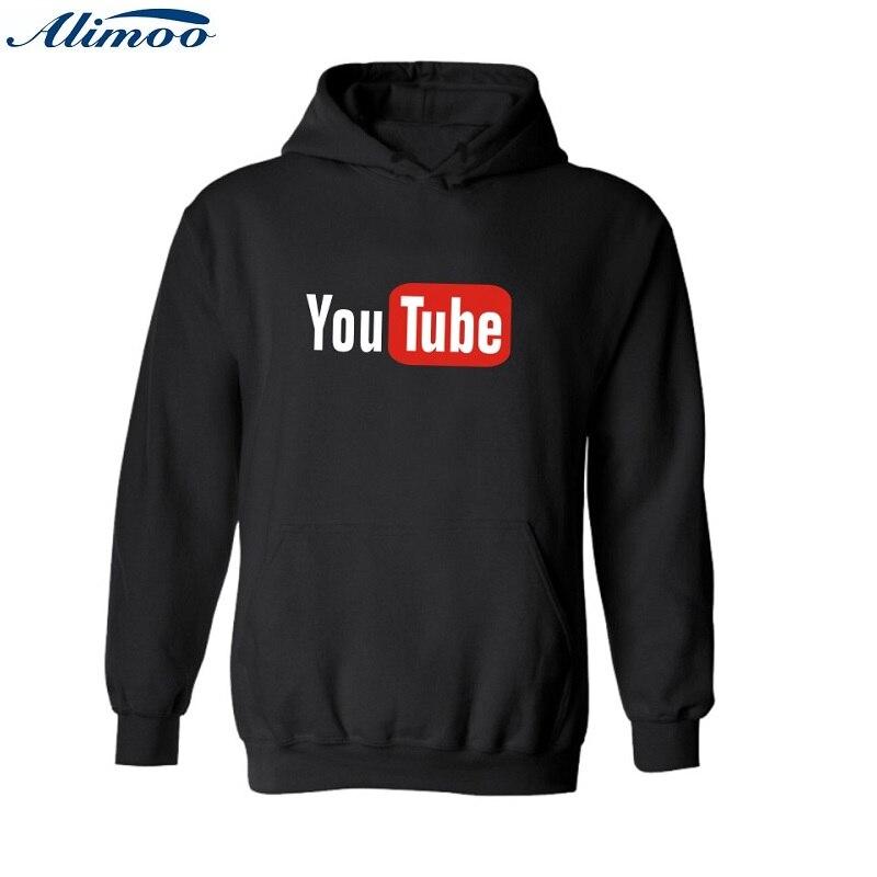 Alimoo Youtube Bully 4XL Hooded hoodies men hip hop sweatshirts with You Tube xxxl hoodies for