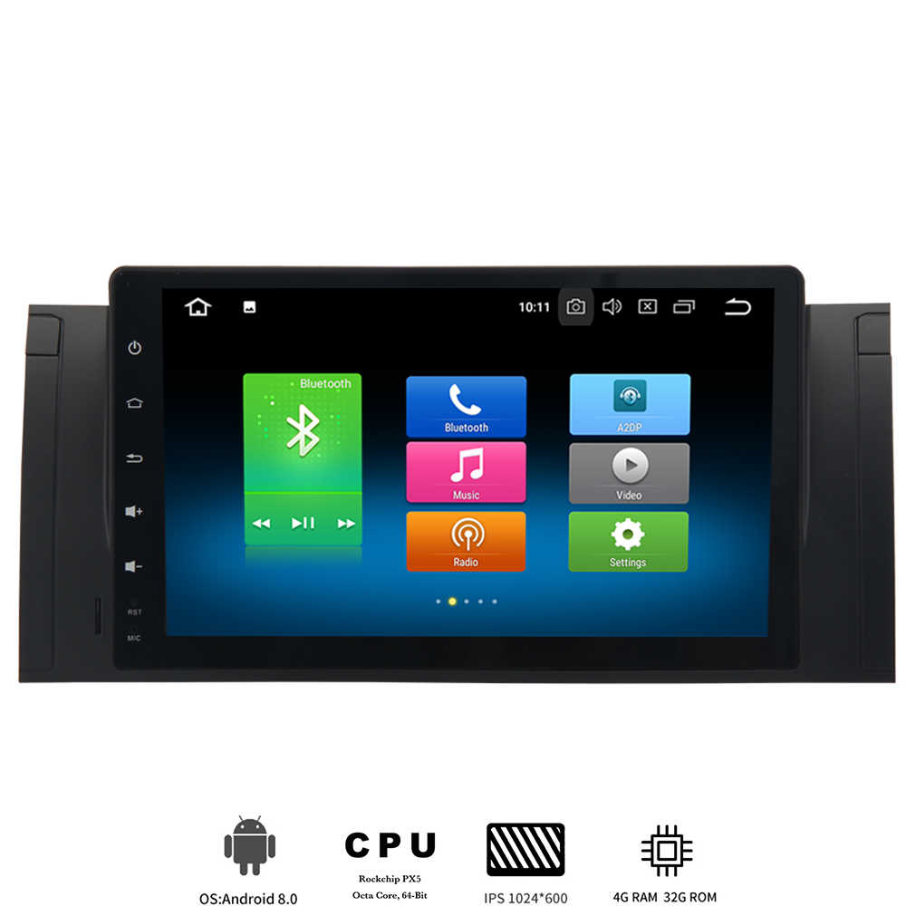 <font><b>Car</b></font> <font><b>1</b></font> <font><b>din</b></font> <font><b>Android</b></font> 8.0 multimedia player For BMW e39 e53 X5 autoradio with 8-Core <font><b>4Gb</b></font> <font><b>Ram</b></font> 32Gb Rom built-in GPS wifi ips screen image