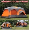 Ultralarge alta qualidade um salão de dois quartos de luxo 6 8 10 12 acampamento ao ar livre tenda 215 cm altura família festa à prova d' água tenda