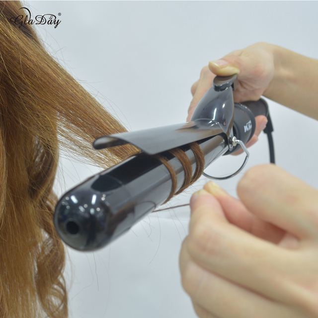 Ceramic Styling Tools LCD 38mm pro Hair Curling Iron Digital Hair Curler Roller Hair Waver Magic Curling Wand Irons