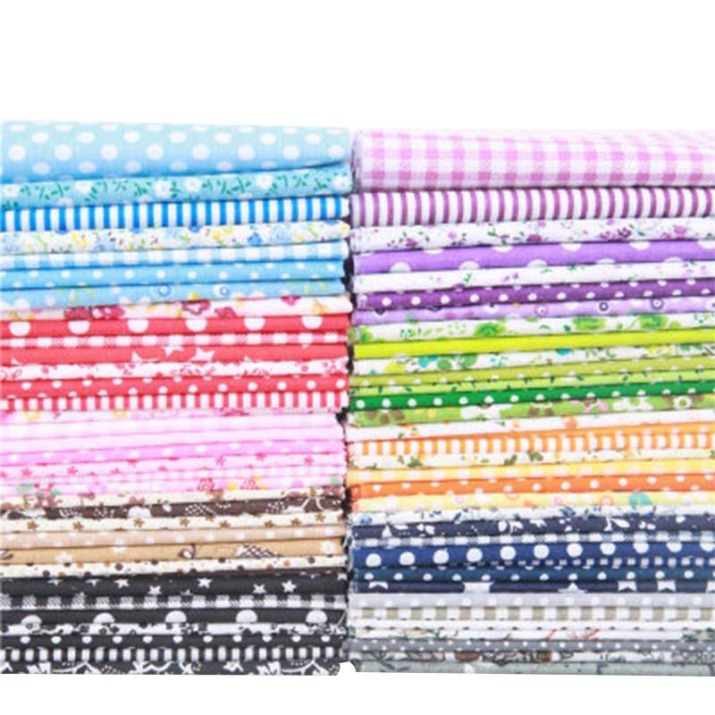 10Colors Small Floral Quarter Patchwork Cloth Sewing Cotton Fabric Handmade DIY Cotton Cloth 25*25cm 7Pcs/set(China)
