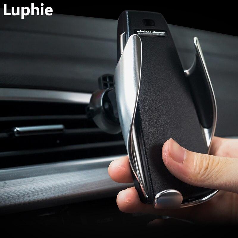 Drahtlose Auto Ladegerät Montieren Infrarot Sensor Automatische Clamp 10 W Qi Schnelle Ladung Auto Drahtlose Ladegerät Halter Stand Schnell Ladegerät
