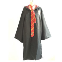 Adult Kids Harri Potter Cosplay Costumes Harry S Robes With Ties Gryffindor Ravenclaw Mantle Slytherin Hufflepuff