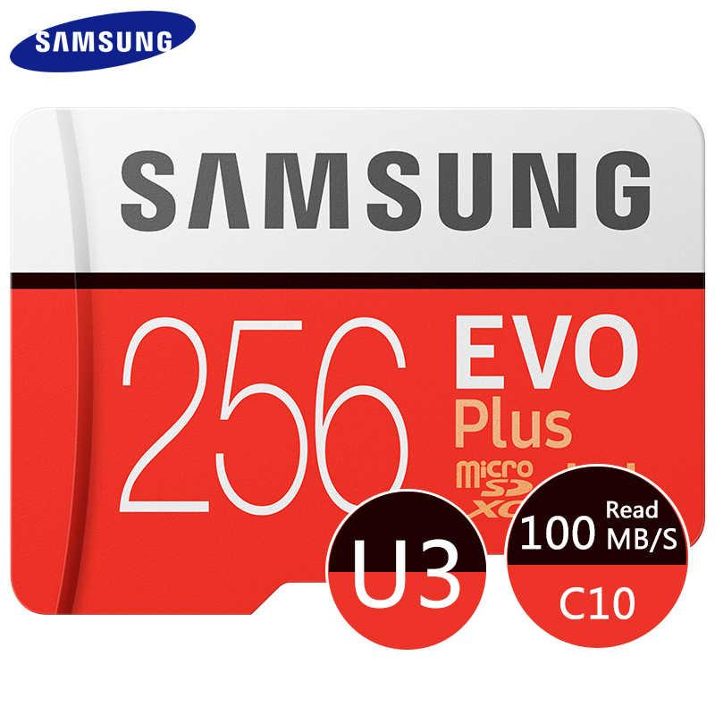 Samsung 100% Hàng Chính Hãng Thương Hiệu EVO Plus 32 GB/64 GB/256 GB Micro SD 128GB U1 u3 UHS-I Cartao De Memoria Tarjeta Micro SD