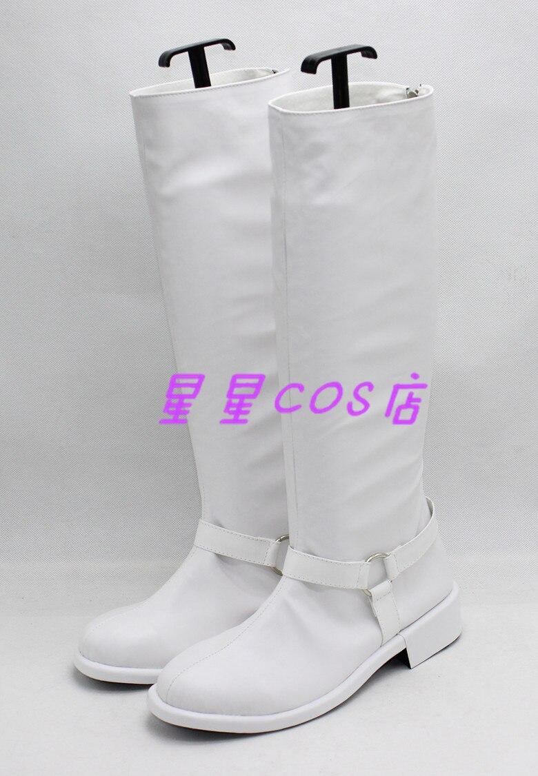 페르소나 5 키타가와 유스케 화이트 할로윈 코스프레 신발 부츠 X002