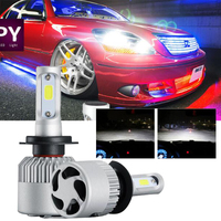 2017 1Pair H7 COB 72W Car Headlight 8000LM Bright LED Fog Kit Car Beam Bulbs