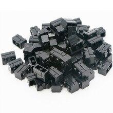 1000pcs Black Legoing Pieces Part Basic Component 1X2 MOC City House Wall building Block Bricks Educational Toy For Children
