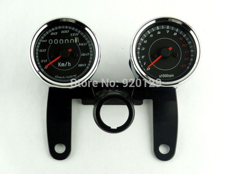 Хромированный спидометр для мотоцикла одометр+ EFI Тахометр Счетчик часов Тахометр для Honda Yamaha Suzuki Kawasaki