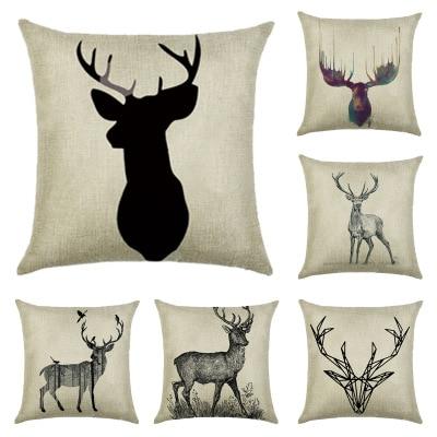 Super Cute Elk Sofa Cushion Cover Cartoon Children Lovely Sleeping Pillow Case New Year Gift Merry Christmas Home Decor Car ...