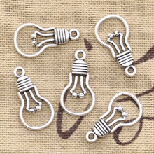 20pcs Charms light bulb 21x11mm Antique Making pendant fit,Vintage Tibetan Silver Bronze,DIY bracelet necklace(China)