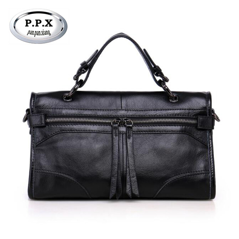 P.P.X Multi-function Genuine Leather Women Handbag Top Layer Leather Classic Female Bag Casual Messenger Bags For Lady M715 247 classic leather