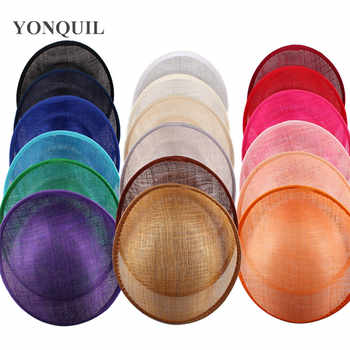 25CM SINAMAY fascinator base for making fascinators kentucky party hats Millinery material cocktail hats 12pieces/lot multicolor - DISCOUNT ITEM  6% OFF All Category