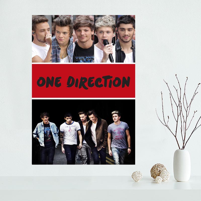 Nice One Direction Poster Custom Canvas Poster Art Home Decoration Cloth Fabric Wall Poster Print Silk Fabric