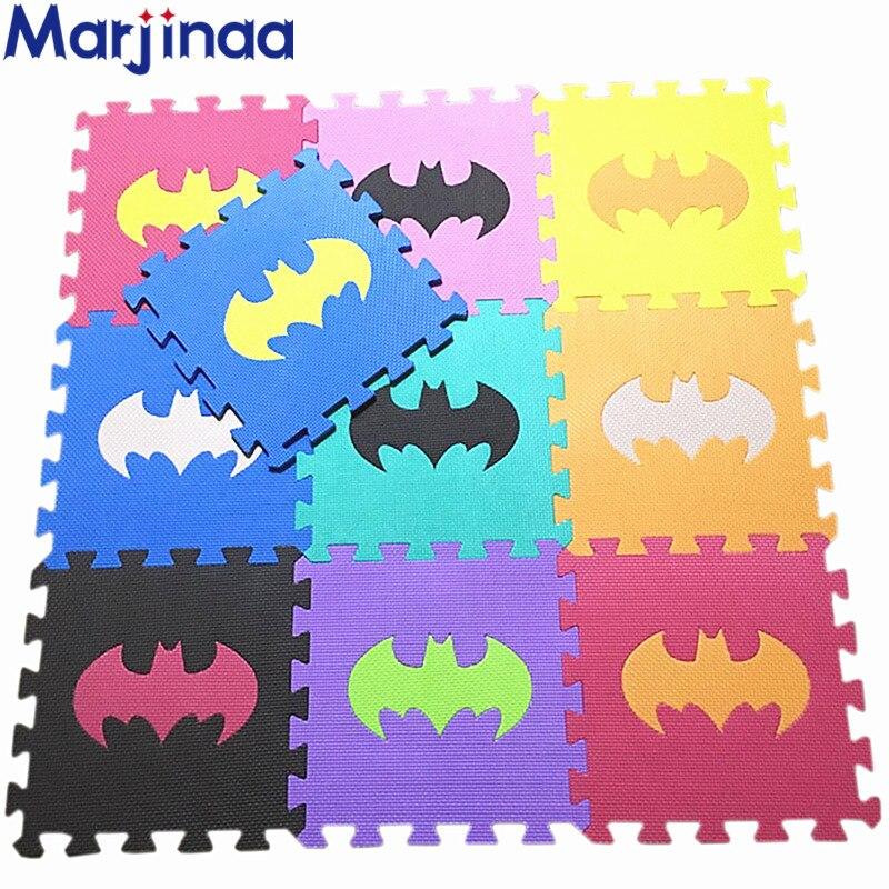 Marjinaa Boy Girl Gift Christmas Rug/carpet Bat Man Type Baby Tasteless Environmental Protection EVA Cartoon Sleeping Puzzle Mat