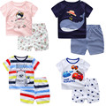 Summer Style Baby Boy Girl Clothes Cartoon Dolphin model Cotton Short Sleeve 2pcs Newborn Baby Boy Clothing Sets Infant Clothes