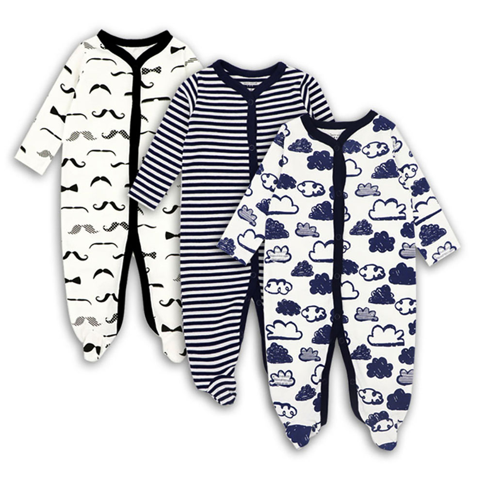 Newborn Baby girl boys Clothes 2019 Baby   rompers   Long Sleeves 100% Cotton Comfortable Baby Pajamas Cartoon Printed