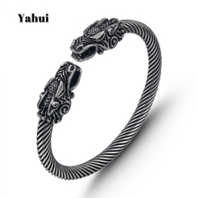 Stainless steel TRENDY plated ancient silver titanium bracelet closed metal female charm personality animal best friend