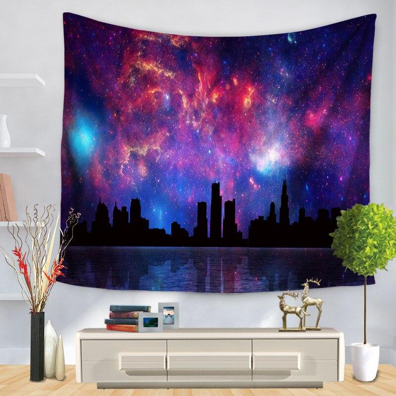 CAMMITEVER Décoratif Couverture Art 3D Cosmos Galaxy Polyester Mur Tapisserie La Maison Salon Décor Espace Ciel Pittoresque Tapisserie Colorée