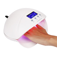 2017 # Professional 50W LCD Display Dual UV LED Nail Lamp Nail Dryer With Bottom Timer