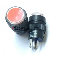 Original new 100% Japan import YB 15W circle with LED lamp button switch 3A 125V
