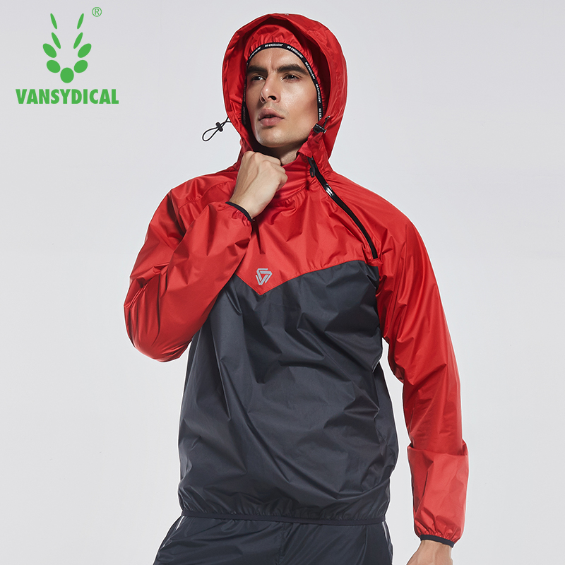 Image 3 - Vansydical Mens Hot Sweat Sports Jackets Zipper Running Tops Windproof Outdoor Sports Hoodies Quick Perspiration Gym Clothes-in Running Jackets from Sports & Entertainment on AliExpress