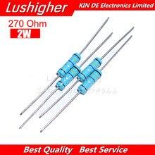20 pces 270 ohm 2 w 270r metal filme resistor 1% erro