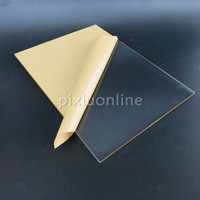 1pc J139 30 20cm Acrylic Board Full Thickness 5mm Double Faced Cover Film Transparent Plastic Board