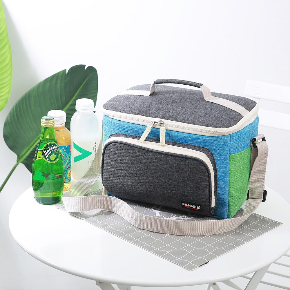 saco isolado saco de almoço térmico tecido