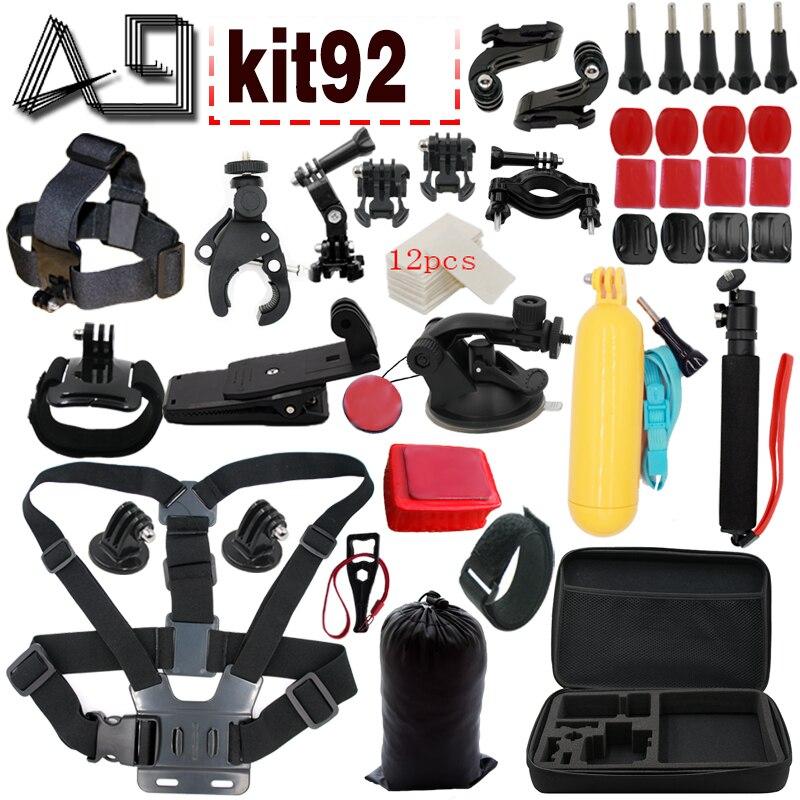 A9 pour Gopro accessoires set pour caméra d'action pour Xiaomi yi 4 k/Go pro 5 4 3/SJCAM SJ9000 SJ4000 et Sony caméra d'action