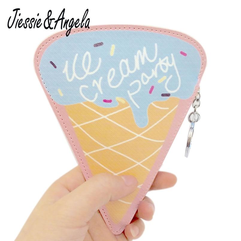 Jiessie & Angela Fashion Design Girls Small Clutch Bags Cute Icecream Shape Mini Bags Coin Purse Children Wallet Small Bag