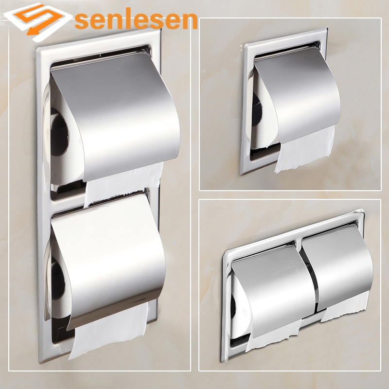 2017 New Arrival Bathroom Toilet Paper Holder Chrome Finish Multiple Types Solid Brass