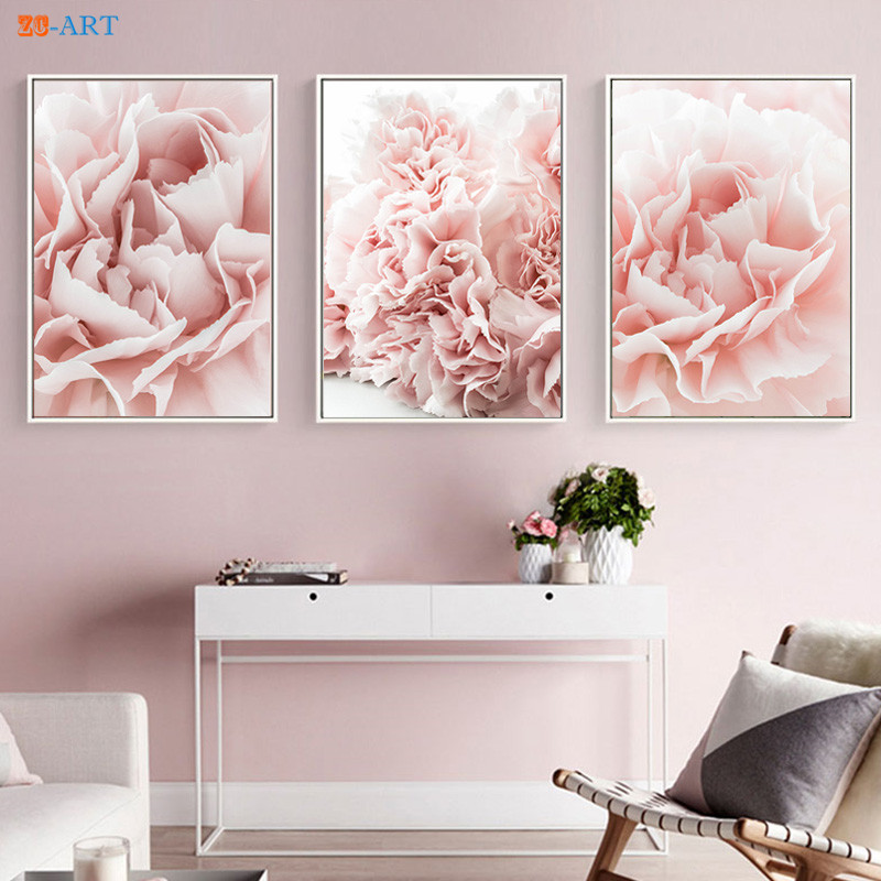 Aliexpress.com : Buy Blush Pink Flowers Prints Floral ...