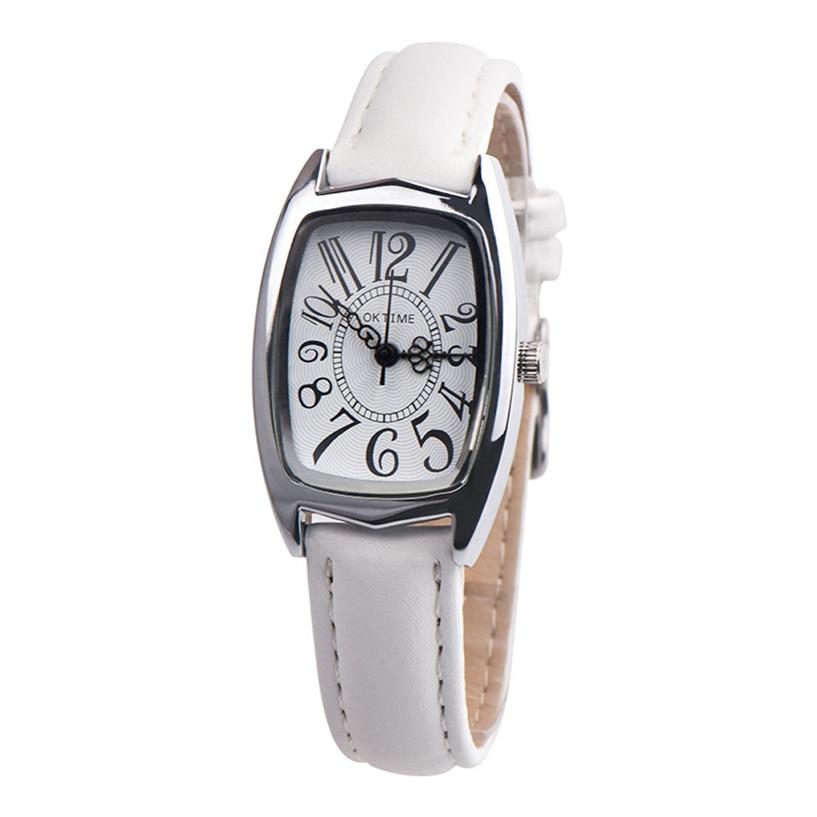 Quartz Watches Women Clock Lady Square Leather Strap Rectangle Casual Fashion Women's Dress Watch Ladies Wristwatch 39J 5