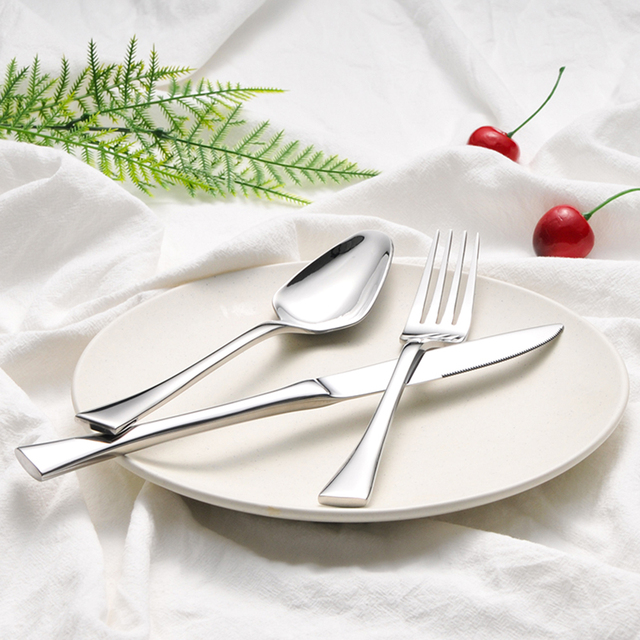 3pcs/set Luxury Western Style Stainless Steel Set Good Quality Solid Dinnerware Utensils with Storage & 3pcs/set Luxury Western Style Stainless Steel Set Good Quality Solid ...