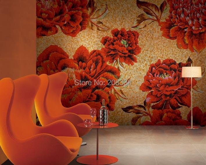 2017 Sale Time Limited Pastilhas De Vidro Para Banheio Bathroom Tiles Floor Magnificent Floral Glass