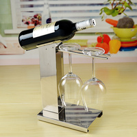 1 PCS Stainless steel wine rack wine European red wine shelf red wine glass rack pendant (Without bottles and cups) LU720417