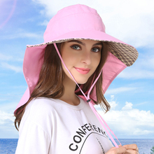 Outfly Wide Eaves Sunshade Hat With Neck Guard LadiesSummer Ultraviolet UPF50+ Hats For Women