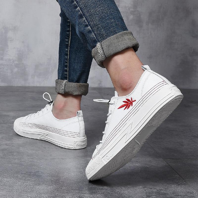 Couro Moda Tamanho 38 Luz Los Black 2018 Cor Simples Sapatos Homem Tow outono Nova Casuais 43 white De Confortável Genuíno Primavera Fg5 Zapatos 0dS0aZ