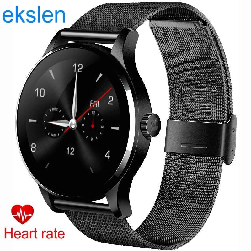 ekslen K88H Bluetooth Smart Watches Wristwatch MTK2502 Heart Rate Monitor Health Wrist Whatch Clock For Android Phone ios Wear k88h mtk2502 bluetooth smart watch with heart rate monitor for android ios phone
