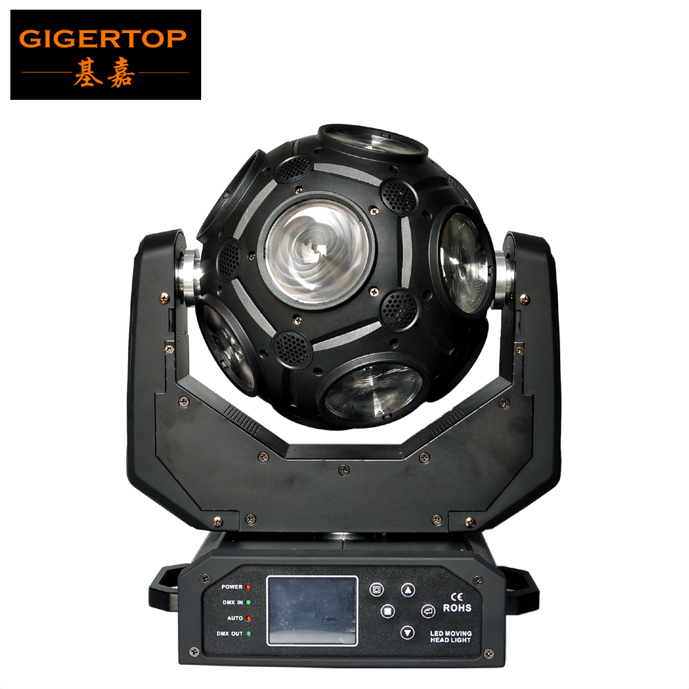 Freeshipping Gigertop TP-L1025 12x20W Led Moving Head Beam Light Universal Ball Beam Light RGBW 4in1 Cree With Hooks 21 Channel